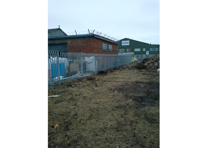 Steal Palisade Fencing at a Commercial Property by bradfordbrothers.co.uk Ossett, Leeds, Wakefield