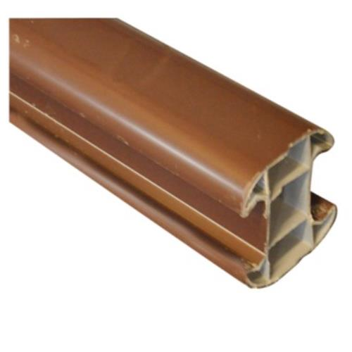 Classic Brown Eco Plastic Slotted Fence Post