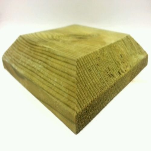 Deluxe Flat Timber Fence Post Cap