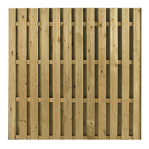Hit and Miss (Double Sided Palisade) Fencing Panel