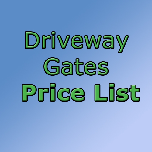 driveway gates price list in ossett, wakefield and leeds